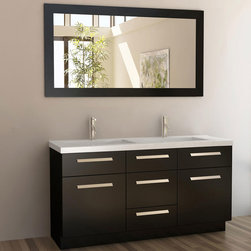 "60"" Moscony Double Sink Vanity - Espresso (J60-DS) -"