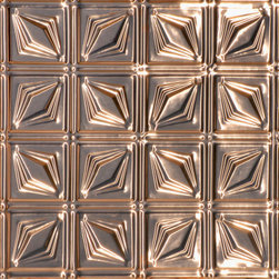 "Decorative Ceiling Tiles - Prism - Copper Ceiling Tile - 24""x24"" - #0611 - Find copper, tin, aluminum and more styles of real metal ceiling tiles at affordable prices . We carry a huge selection and are always adding new style to our inventory."