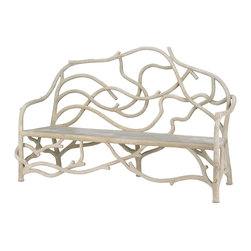 Currey and Company - Villandry Bench - This captivating bench appears to be the entangled roots of a growing tree. This enchanting piece of faux bois will make a fantastic addition to a garden or other outdoor/indoor space.