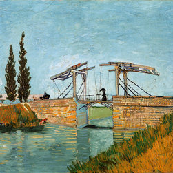 WCC - The Langlois Drawbridge by Vincent Van Gogh Giclee Print on Artist's Canvas - High quality 0.56 mm thick 400 gsm cotton canvas.