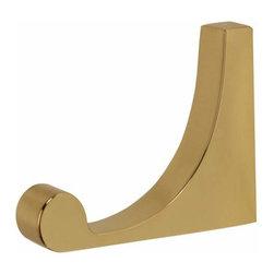 Alno Inc. - Alno Luna Robe Hook in Polished Brass - Alno Luna Robe Hook in Polished Brass