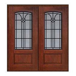 """Prehung Double Door 80 Fiberglass Cantania Arch Lite GBG Glass - SKU#MCR062WCA_DFACAG2BrandGlassCraftDoor TypeExteriorManufacturer CollectionArch Lite Entry DoorsDoor ModelCantaniaDoor MaterialFiberglassWoodgrainVeneerPrice3140Door Size Options2(32"""")[5'-4""""]  $02(36"""")[6'-0""""]  $0Core TypeDoor StyleDoor Lite StyleArch LiteDoor Panel Style1 PanelHome Style MatchingDoor ConstructionPrehanging OptionsPrehungPrehung ConfigurationDouble DoorDoor Thickness (Inches)1.75Glass Thickness (Inches)Glass TypeDouble GlazedGlass CamingGlass FeaturesTempered glassGlass StyleGlass TextureGlass ObscurityDoor FeaturesDoor ApprovalsTCEQ , Wind-load Rated , AMD , NFRC-IG , IRC , NFRC-Safety GlassDoor FinishesDoor AccessoriesWeight (lbs)603Crating Size25"""" (w)x 108"""" (l)x 52"""" (h)Lead TimeSlab Doors: 7 Business DaysPrehung:14 Business DaysPrefinished, PreHung:21 Business DaysWarrantyFive (5) years limited warranty for the Fiberglass FinishThree (3) years limited warranty for MasterGrain Door Panel"""