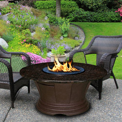 California Outdoor Concepts - San Simeon Chat Fire Pit Table -