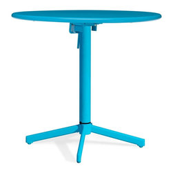Zuo Modern - Zuo Modern Big Wave Outdoor Folding Round Dining Table X-840307, Aqua - Add color to any outdoor space with the Big Wave folding table. Made from 100% epoxy coated steel durable for any climate. Table folds up for ease of storage when Not in use.