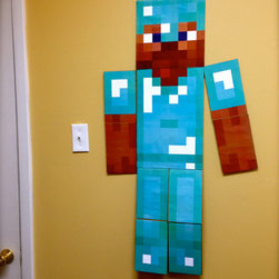 Minecraft Wall Art Life-Size Custom Skin by Lemur Apps - You can design your own skin in Minecraft, and now you can hang it on your wall too! This seller custom-makes these, so they look however you want them to.