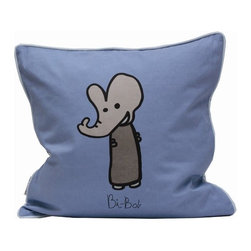 "Meo and Friends - Bi Bob Down-Filled Pillow - Decorate a child's bed or add a special touch to a play area with the Meo and Friends pillowcase. Bi-Bob has an ability to understand and use music. Remembers tunes and lyrics easily and uses music as a frame of reference. Bi-Bob has a natural sense of timing or rhythm, enjoys sounds of all types, is easily distracted by sounds and notices the cadence of things. Bi-Bob will be singing tunes on key and be able to remember songs just by their tune. Can you recognize Bi-Bob in your child: Sing and play music, sing and make up songs to remember other things, learn to play an instrument, music lessons, listen to all kinds of sounds. Features: -Available in 3 sizes. -100% Organic cotton. -Fill pillow in down. -Overall dimensions: 19.7"" H x 19.7"" W."