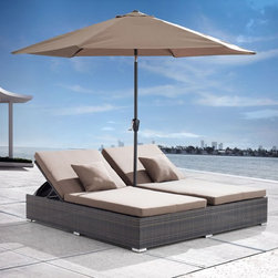 Zuo Modern Contemporary - Zuo Vive Atlantic All-Weather Wicker Double Chaise Lounge - 703545 - Shop for Chaise Lounges from Hayneedle.com! Just remember that when you tell all your friends about how you found the Zuo Vive Atlantic Aluminum Double Chaise Lounge - Espresso on your first trip to Ibiza the locals pronounce the Z in Ibiza with a bit of a lisp. We can't be sure that your friends will be listening to your story while they're sinking into those foam cushions and starting to soak up the sun on this indulgent outdoor centerpiece. The double-wide design incorporates two independent chaise lounges each with its own thick cushion and adjustable seat back. The hand-crank-operated canopy features a durable all-weather fabric with wind vents for added stability while it protects you from the sun. Don't worry about it starting to weather when you leave it outdoors as the rust-proof aluminum frame and resin-wicker exterior are designed to resist moisture and corrosion.About Zuo ModernZuo Modern designs products with a simple philosophy in mind: clean modern shapes combined with classic colors. All Zuo Modern products are put through rigorous processes to ensure quality materials and production ensuring that your item reaches you in top condition. Yet Zuo pieces are modestly priced for today's consumers. Zuo works to inspire a sense of value and worth along with the significance of aesthetics. If it passes the Wow this feels solid test along with the This looks amazing and the What a great price test you know it's a Zuo product.
