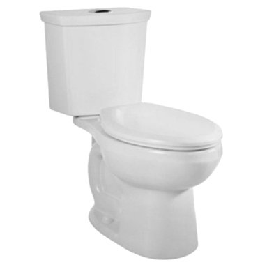 "American Standard - American Standard 2889.216.020 H2Option Dual Flush Round Front Toilet, White - American Standard 2889.216.020 H2Option Siphonic Dual Flush Round Front Toilet,  White. This round-front toilet features a vitreous china construction, a high-efficiency low-consumption 1.6 GPF flow rate, a round-front siphon action bowl with direct-fed jet, a 15"" rim height, a fully-glazed 2"" trapway, a 12"" Rough-in, a chrome plated top mounted push-button actuator, a sanitary dam on bowl, 2 color-matched bolt caps, and a design that meets EPA WaterSense critera."