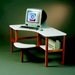 Grade School Kids Computer Desk - This desk is an ergonomic workspace for a tech-savvy preschooler.
