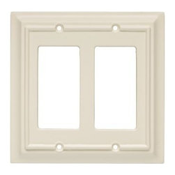 Liberty Hardware - Liberty Hardware 126449 Wood Architectural WP Collect 5.51 Inch Switch Plate - A simple change can make a huge impact on the look and feel of any room. Change out your old wall plates and give any room a brand new feel. Experience the look of a quality Liberty Hardware wall plate. Width - 5.51 Inch, Height - 5.2 Inch, Projection - 0.4 Inch, Finish - Light Almond, Weight - 0.22 Lbs.
