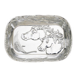 Arthur Court - Horse Catch All - Every home needs a handy catchall for things like keys and spare change. This elegant tray is perfect for any horse lover. The two horses featured are beautifully framed by stalks of wheat — evoking the endless fields they would be roaming in.