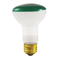 Bulbrite - Reflector Incandescent Bulbs in Green Shade - One pack of 12 Bulbs. 120V E26 intermediate base bulb. 360 degrees beam spread. Long life. Colored reflectors add a festive and fun touch to any application. Ideal for indoor residential and commercial use lighting. Perfect for recessed cans, sign, display, track applications. Dimmable. Average hours: 2000. Color rendering index: 100. Wattage: 50 watt. Maximum overall length: 4 in.