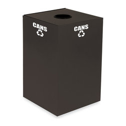 Witt Industries - Witt Industries Geo Cubes 24 Gallon Slate Recycling Bin Multicolor - 24GC01-SL - Shop for Recycling Bins from Hayneedle.com! Start a recycling program at work with the Witt Industries Geo Cubes 24 Gallon Slate Recycling Bin. Designed to be compact this bin gives you a lot of options on where to place it. The bin is made from fire safe steel and includes decals to clearly mark its use. This recycling bin will accommodate paper plastics glass or metals. Just pick the top that works with whatever you have in mind. This recycling bin holds up to 24 gallons of recyclables and measures 15L x 15W x 24H.About Witt IndustriesWith its rich and established history in the steel waste receptacle manufacturing industry that dates back to 1887 Witt Industries has been in the forefront with its innovation quality and service. The company's founder George Witt invented and patented the first corrugated galvanized ash can and lid back in 1889 and the company has never looked back. Today Witt Industries is part of the Armor Metal Group and is a woman-owned business.