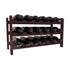 18 Bottle Stackable Wine Rack in Redwood with Burgundy Stain - Expansion to the next level! Stack these 18 bottle kits as high as the ceiling or place a single one on a counter top. Designed with emphasis on function and flexibility, these DIY wine racks are perfect for young collections and expert connoisseurs.