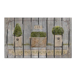BuyMATS Inc. - French Garden Entry Mat - •Exciting full color design Indoor/Oudoor Entry MAT with built in channels provide high fashion appeal.