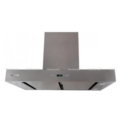 "XtremeAir - Pro-X Series PX04-I42-B 42"" Island Mount Ducted Range Hood with 900 CFM Centrifu - XtremeAir39s Wall Mount Range Hood will give your kitchen a sweet upgrade This range hood features a 900 CFM centrifugal blower full seamless square corner T-shape body design and motor oil cup Additionally it features a 4 speeds sensitive touch butt..."