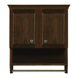 "DecoLav - Decolav 5238-MMG Jordan Modular Wall Cabinet in Mahogany - Decolav 5238-MMG Jordan Modular Wall Cabinet in MahoganyDECOLAV's Jordan Modular 24""Wx10""Dx26""H Wall Cabinet has solid wood frame and trim work. Soft closing hinges are used for a smooth secure close. Adjustable interior shelf with an open cubby adds extra storage for your bathroom. Satin nickel hardware and towel bar adds an elegant syle to this furniture collection. The functional wall cabinet is a wonderful addition to your bathroom. It offers and abundance of extra storage that is discreetly tucked away. The Jordan collection was designed to emulate the charm and beautiful simplicity of a spirited lifestyle.Decolav 5238-MMG Jordan Modular Wall Cabinet in Mahogany, Features:&#149 Part of the Jordan Modular Collection"