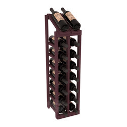 Wine Racks America - 2 Column 8 Row Display Top Kit in Pine, Burgundy Stain - Display your best vintage while efficiently storing 16 wine bottles. This slim design is a perfect fit for almost any space. Our wine cellar kits are constructed to industry-leading standards. Display top wine racks are perfect for commercial or residential environments.