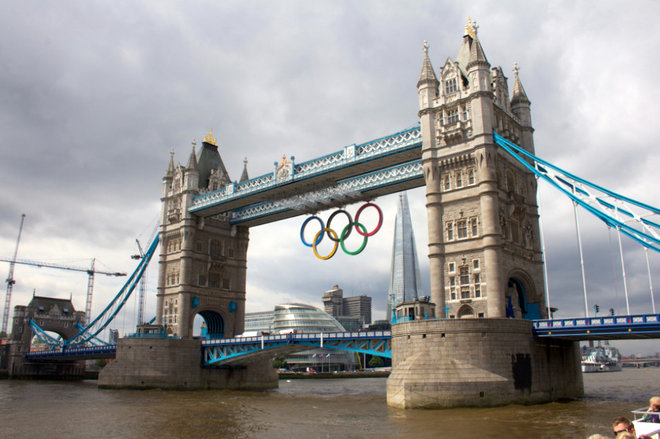London, all decked out for the Olympics