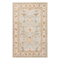 Jaipur Rugs - Hand-Tufted Durable Wool Blue/Ivory Area Rug (8 x 10) - The Poeme Collection takes traditional designs and re-invents them in a palette of modern, highly livable colors. Each design is made from premiere hand-spun wool and crafted with precision for the look and feel of a hand-knotted rug, at the more affordable cost of a hand-tufted. Poeme will effortlessly coordinate individual design elements to finish any room.
