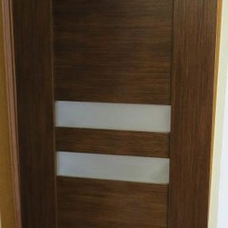 Dolce Contemporary Interior Door Light Wenge Finish - Dolce Modern Interior Door Wenge Finish