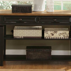 Liberty Furniture - 2 Drawer Sofa Table with Storage Shelves -
