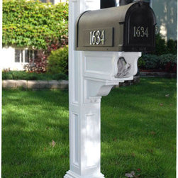 Charleston Plus Mailbox Post - The Charleston Plus Mailbox Post features a stately look on a smaller scale, perfect for any style home.