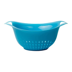 Architec™ Housewares - Architec™ Gripper™ Colander, Blue, 4 Qt - Architec™ Gripper™ Colander. Gripper Base, made from 100% polypropylene. Elongated design prevents spillovers! Nonslip Gripper base. Dishwasher safe. Available in 4 Quart.