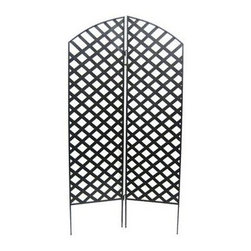 Sunscape Trellis Screen - Add a beautiful touch to your garden with the Sunscape Trellis Screen! Crafted of heavy-duty wrought iron this screen is perfect for growing vines and other climbing plants. Suitable for both indoor and outdoor use.