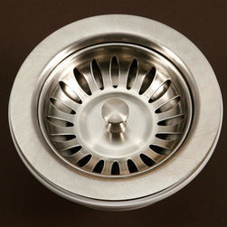 Houzer - 3.5 in. Basket Strainer - 3.5 in. basket strainer to perfectly fit your Houzer Sink. UPC Certified. 3-1/2 in. . T-304 Stainless Steel. 1 Year Warranty. Product Specifications