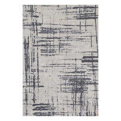 "Loloi Rugs - Loloi Rugs Discover Collection, Grey and Charcoal, 3'-6""x5'-6"" - Prized for its ribbed texture and incredibly soft microfiber polyester, the Discover Collection balances contemporarydesign with amazing comfort. The patterns enjoy an abstract modern art feel, adorned with a color palette of cool grays,beiges, and taupes for added versatility. Power loomed in China of 100% polyester for durability, color fastness, andstain resistance."