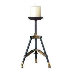Sterling Industries - Sterling Industries 51-10027 Candle Holder Decor in Panorama - Industrial Candle Holders- Large