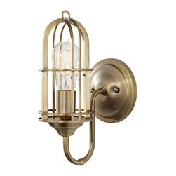 Murray Feiss - Murray Feiss WB1703DAB Urban Renewal 1 Light Wall Sconce - The Urban Renewal lighting collection is a diverse selection of pendants, chandeliers and sconces all inspired by the 20th century Industrial Revolution.  Featuring reproduction pieces from the nation's vintage factories and warehouses, Urban Renewal adds an industrial-inspired aesthetic to any home - adding flair and fun to classic, traditional decor or to the most sleek, contemporary urban spaces.   No doubt, what's old is new again.