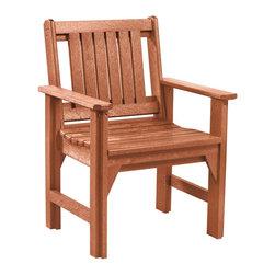 C.R. Plastic Products - C.R. Plastics Dining Arm Chair In Cedar - C.R. Plastics Dining Arm Chair In Cedar