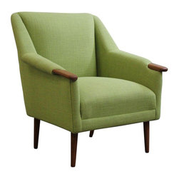 Vintage Green Danish Low Lounge Chair - Dimensions 29.0ʺW × 30.0ʺD × 32.0ʺH