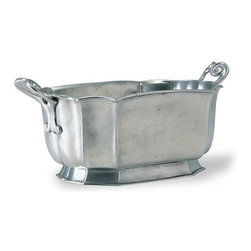 Match Pewter - Mushroom Bowl by Match Pewter - In a world dominated by mass production, Match pewter is handmade by artisans in Northern Italy. Its classic forms harmonize with both traditional and modern settings, recalling celebrations at well laid tables. Each piece bears a stamped symbol from the region in which it was made.