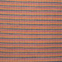 Jaipur Rugs - Naturals Stripe Pattern Cotton/ Jute Orange/Blue Area Rug ( 3.6x5.6 ) - The Andes collection is hand-woven with jute and recycled Chindi cotton fabric for touches of both color and a softer feel. Eco friendly and durable, these rugs fit in a variety of homes.