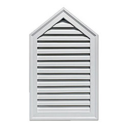 "Inviting Home - Peak Louvers - functional peak louvers 18""W x 30""H x 2""D Functional louvers specifications: louvers designed for exterior application. Outstanding durability functional louvers are made of high density polyurethane. These louvers are lightweight durable and easy to install using common woodworking tools and can be finished with any quality paints."