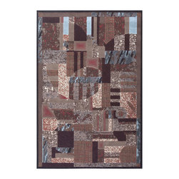 """Nourison - Nourison Modesto MDS07 2'2""""x7'3"""" Brown Area Rug 18342 - A collage of abstract shapes and forms create a dramatic focal point in this robustly patterned area rug. Abstract pattern works well in both contemporary and transitional settings and the distinctive geometric design of this rug is sure to impress. Bold shades of brown, red, blue and beige and array of textile designs create a trendy design that is sure to please for years to come."""