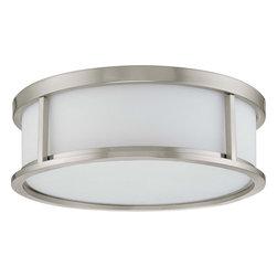 "Nuvo Lighting - Nuvo Lighting 60-2862 Odeon 3-Light 15"" Flush Dome with Satin White Glass - Nuvo Lighting 60-2862 Odeon 3-Light 15"" Flush Dome with Satin White Glass"