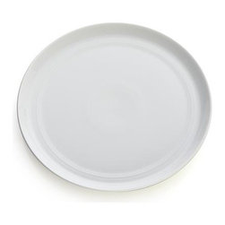 Hue White Salad Plate - Our fresh, contemporary porcelain pattern from designer Aaron Probyn tells a mix 'n' match color story, hand-glazed in eight soft, soothing hues. Simple artisanal shapes feature grooved detailing and a glowing, glossy finish, here in clean, classic white. Due to their handcrafted nature, slight variations will be present. Also available in ivory, dark grey, taupe, blue, green, light grey and blush.