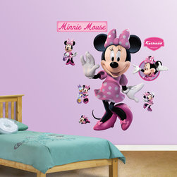 Fathead - Fathead Minnie Mouse Wall Decals - Title: Minnie MouseMaterials: High-grade tear and fade resistant vinylSet includes: One Sheet of assorted wall graphics & squeegee