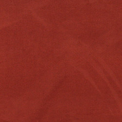 Red-Orange Microsuede Suede Upholstery Fabric By The Yard - Our microsuede upholstery fabric will look great on any piece of furniture. This material is easy to clean and is very durable.