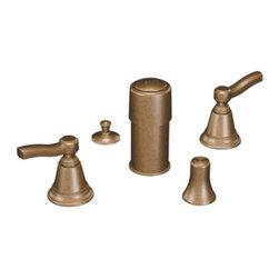 Moen - Moen Rothbury Two-Handle Bidet Faucet, Antique Bronze (TS5285AZ) - Moen TS5285AZ Rothbury Two-Handle Bidet Faucet, Antique Bronze