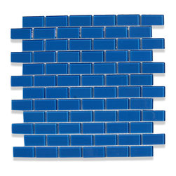 "GlassTileStore - Loft Dusk Blue 1 x 2 Glass Tiles - Loft Dusk Blue 1 x 2 Glass Tile             Add a happy bursts of color to any room with this beautiful glass tile. This colorful design will give your kitchen, bathroom or any decorated room a bright, fresh look.          Chip Size: 1x2   Color: Royal Blue   Material: Glass   Finish: Polished    Sold by the Sheet - each sheet measures 12"" x 12"" (1 sq. ft.)   Thickness: 4mm            - Glass Tile -"