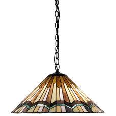 Craftsman Pendant Lighting by Warehouse of Tiffany, Inc