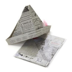 Vintage Newspaper Boat Hat Kit - Get crafty with this vintage newspaper boat hat kit. Kit includes reproductions of old-time European newspapers, assorted feathers and instructions for making four hats.