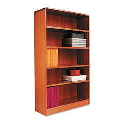 Alera - Alera BCR56036MO Aleradius Corner Wood Veneer Bookcase - Medium Oak Multicolor - - Shop for Bookcases from Hayneedle.com! About AleraWith the goal of meeting the needs of all offices -- big or small casual or serious -- Alera offers an excellent line of furnishings that you'll love to see Monday through Friday. Alera is committed to quality innovative design precision styling and premium ergonomics ensuring consistent satisfaction.