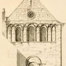 1851 Fine English Engraving of the Church of St by bananastrudel