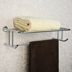 Ceeley Towel Rack - Ideal for a bathroom or hallway area, this Ceeley Collection Towel Rack will add a decorative touch to your home, while adding storage space. Made of durable solid brass.